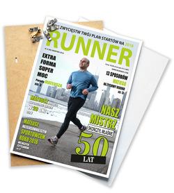Okładka z Twoim zdjęciem prezent dla biegacza